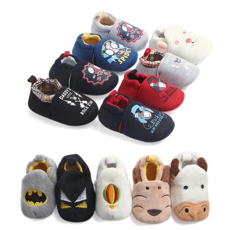 Pair Fashion Baby Girls Boys Cute Cartoon Non-slip Cotton Toddler Floor Socks Animal Pattern First Walker Shoes For Newborns