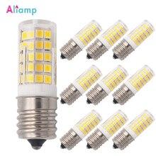 E17 LED Bulb Illuminator for Microwave 6W AC 110/220V 2835 SMD Ceramic Equivalent 60W Incandescent Cerami Warm/Cold White 10PACK