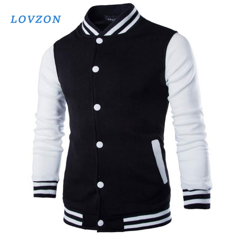 LOVZON New Men/Boy Baseball Jacket Men Fashion Design Wine Red Mens Slim Fit College Varsity Stylish Veste Homme 1