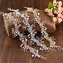 TRiXY H233 3 Colors Wedding Headband Crystal Newest Design Bridal Crown Wholesale Bridal Hair Accessories Wedding Hair Tiara