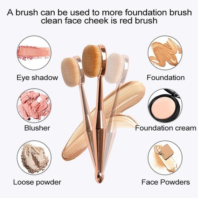 Multi-functional Professional 4 in 1 Makeup Brushes Foundation Eyebrow Eyeliner Blush Powder Cosmetic Concealer Brushes 3