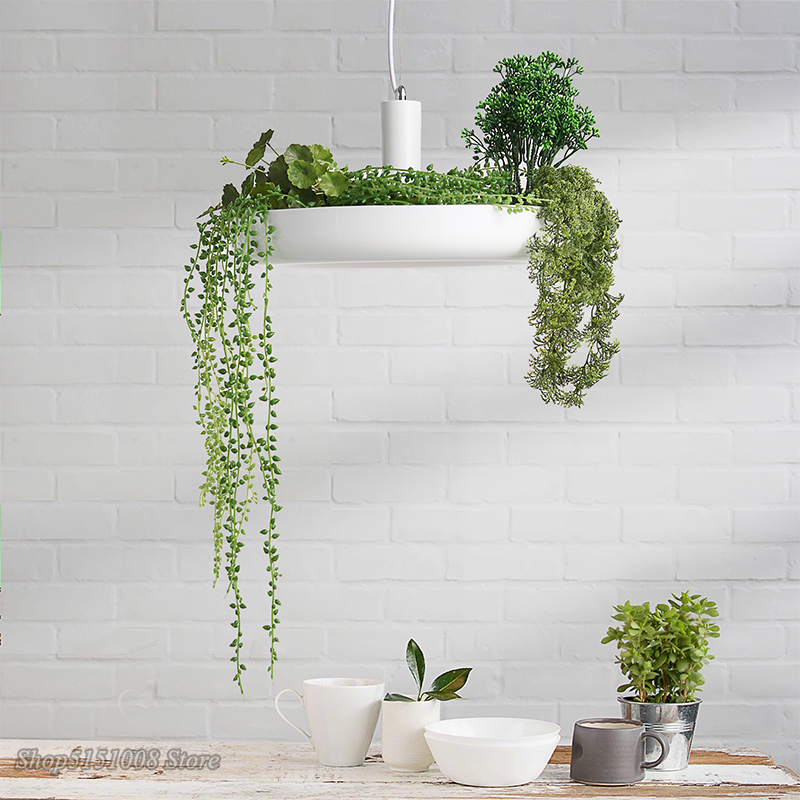 Nordique plante pendentif lumières bricolage ciel LED de jardin lampe Pot de fleur suspension lampe salle à manger Restaurant luminaires décor à la maison - 3
