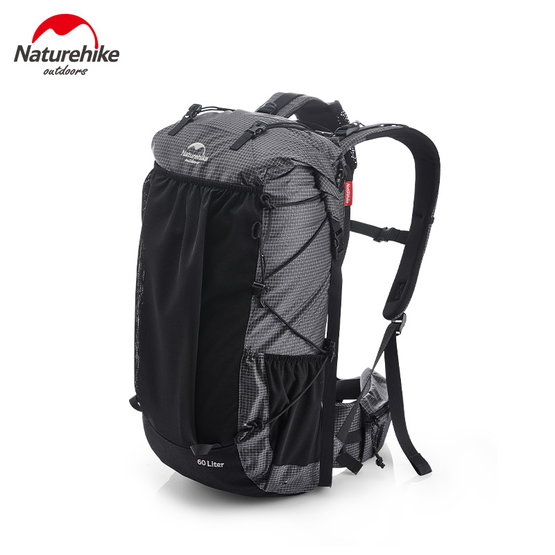 Naturehike Camping Hiking Backpacks 60+5L High-capacity Travel Backpack Aluminum Frame 1.16kg Lightweight Hiking Bag NH19BP095
