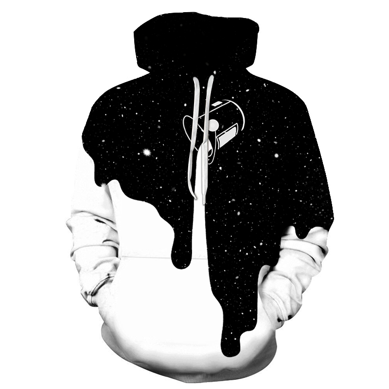 2019 Hot Fashion 3d Sweatshirts Hoodies Men Print Milk Space Galaxy Hooded Hoodies Unisex Tops Wholesale And Retail
