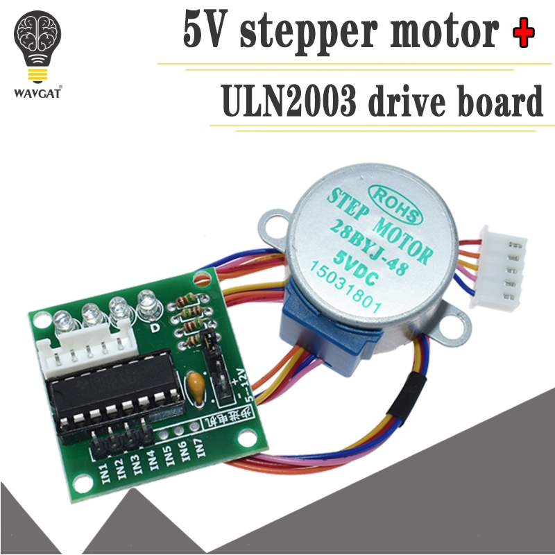 1set Smart Electronics 28BYJ-48 5V 4 Phase DC Gear Stepper Motor + ULN2003 Driver Board For Arduino DIY Kit