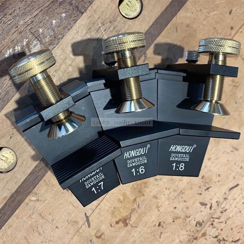 Bitola de guia de cauda de andorinha 1: 4 1: 6 1: 8 bitola de serra de andorinha calibre tenon ferramentas para trabalhar madeira