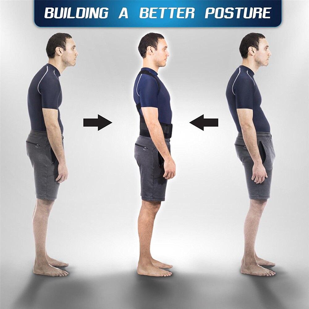 New Adjustable Posture Corrector Male Female Magnetic Back Support Nylon Elastic Shoulder Back Brace Belt 3