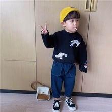 Пуловер в западном стиле; Свитер; Одежда для родителей и детей;