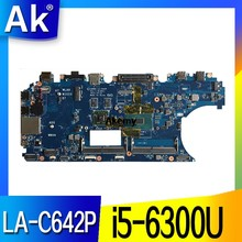 CN-0WK23X WK23X para Dell Latitude E5570 Laptop Motherboard ADM80 LA-C642P REV: 1,0 (A00) I5-6300U ordenador portátil de placa base(China)