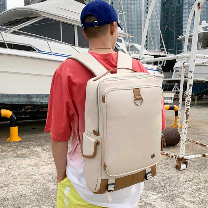 NEUE 15,6 Zoll Notebook Rucksäcke männer Schulter Taschen Mode Business Casual Wasserdicht Schule taschen mädchen Reise Rucksack