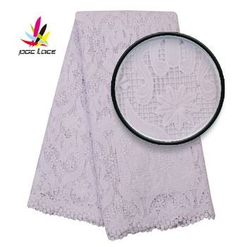 Beautiful African Water Soluble Lace Fabric With Stones 2020 High Quality Nigerian Chemical Embroidered Lace For Dress AMY3098B