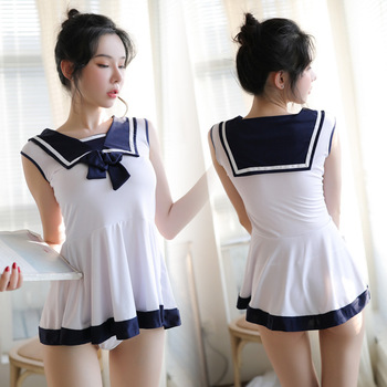 New sexy student uniform suit adult ladies sex play role playing student temptation cute sexy uniform uniform erotic uniformes new sexy lingerie lace bow cute cute maid sexy perspective mesh uniform temptation role playing suit clothes bracelet headdress