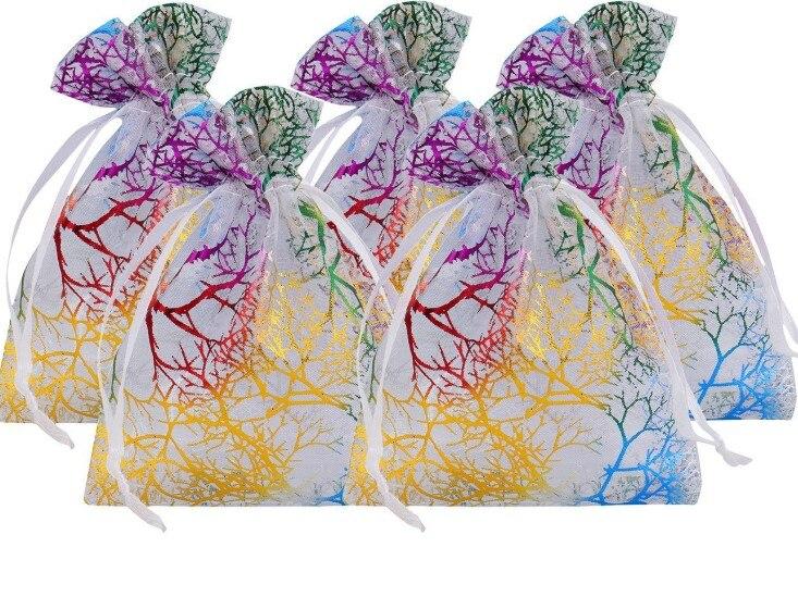 organza malotes dos sacos do fio da