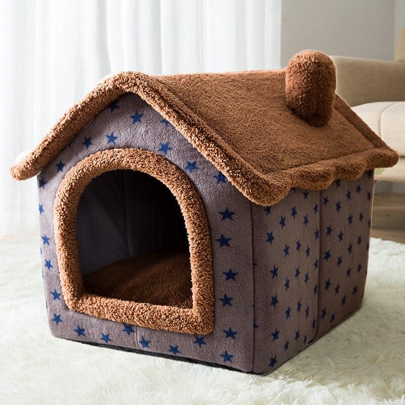 Съемная кровать для кошек, домик-вольер, гнездо для домашних питомцев, палатка для кошек, кровать для собак, теплый домик для собак, подушка, ...