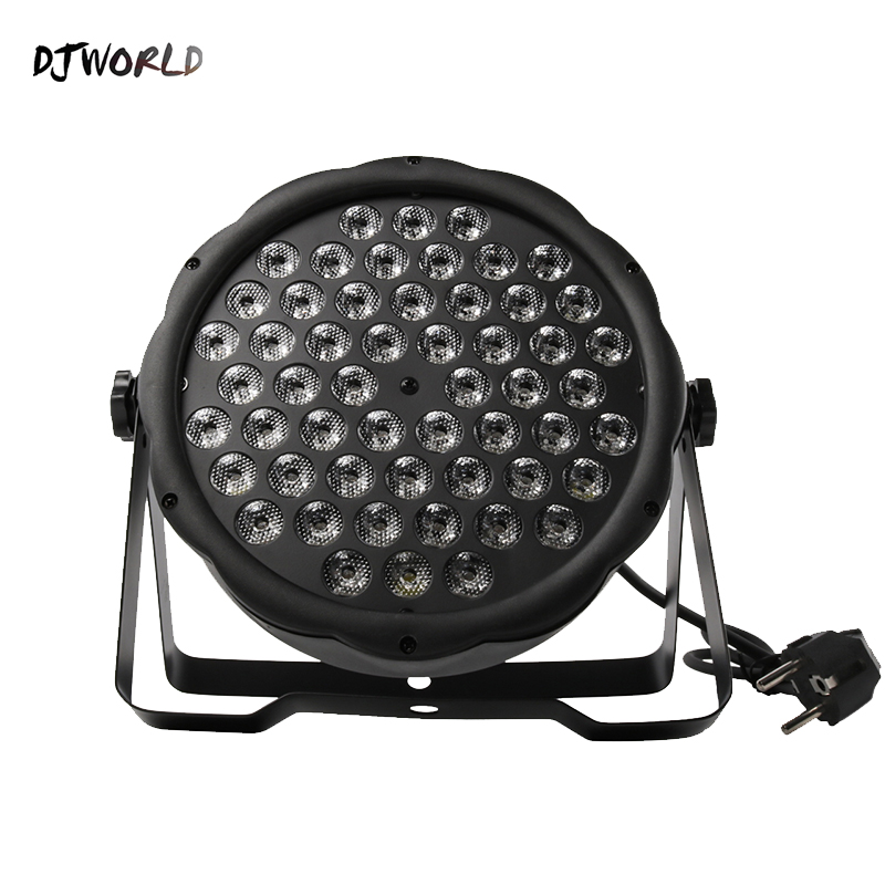 Djworld LED Flat Par 54x3W RGB Color Lighting Strobe DMX 512 Stage Effect Light For Dj Disco Party Wedding Bar Stage Party TV