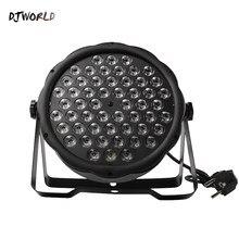 Djworld LED Flat Par 54x3W RGB цветсветильник стробоскоп DMX 512, сценический эффексветильник для диджея, дискотевечерние НКИ, свадьбы, бара, сценвечерние, ...