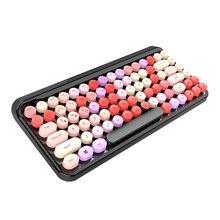 Беспроводная цветная компьютерная клавиатура Bluetooth 3,0 клавиатура 84 клавиши портативный ноутбук планшет клавиатура Поддержка IOS/Mac OS/Windows