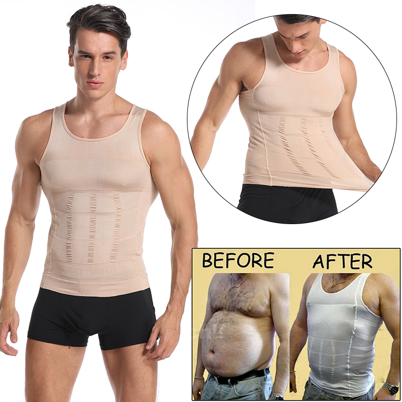 Men Gynecomastia Compression Shirt Waist Trainer Slimming Underwear Body Shaper Belly Control slim undershirt Posture Fitness US