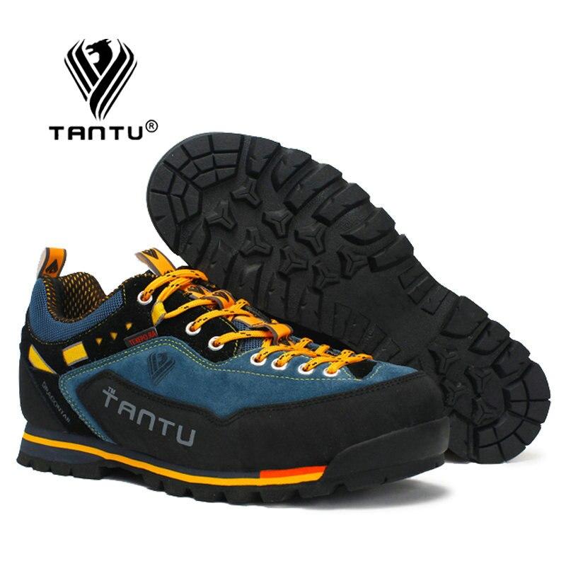 TANTU su geçirmez yürüyüş ayakkabıları dağ tırmanma ayakkabı açık yürüyüş botları Trekking spor ayakkabılar erkekler avcılık Trekking