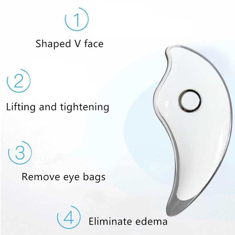 EMS mikroprądowe wibracje elektryczne twarzy Lifing Massager Slimmer skrobanie pokładzie twarzy kształtowanie sylwetki urządzenie USB ładowanie 20 #830