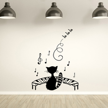 Drop Shipping Music Art Sticker Waterproof Wall Stickers for Kitchen Restaurant MURAL Free LW414