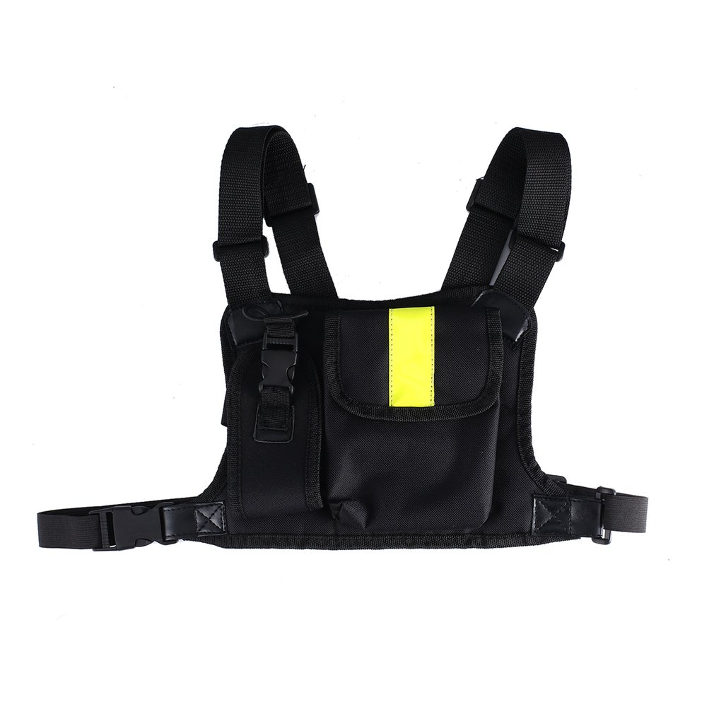 For Radio Baofeng Chest Harness Front Of The Chest Pack Pouch Bag Case Mesh Rig Carry Cade Motorola Walkie Talkie
