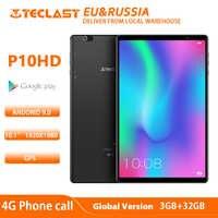 Teclast p10hd 4g telefone chamada octa núcleo tablet pc 3 gb ram 32g rom ips1920 * 1200 sim android 9.0 os 10.1 Polegada tablet gps 6000mah