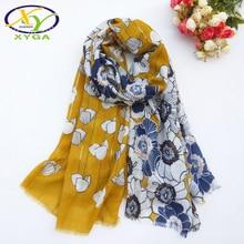 Women Cotton Long Scarf 2019 Autumn Female Soft Shawls Silver Stamped Winter Ladies Wraps Muslim HijabsKerchief