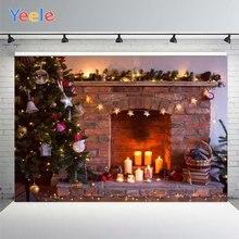 Фон для фотосъемки с рождественским камином yeele текстурный