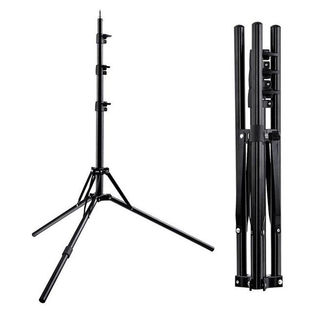 Fosoto三脚ライトスタンド & 1/4ネジポータブルヘッド用フォトスタジオ写真照明フラッシュ傘リフレクター
