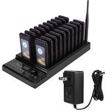 レストランウェイター通話システムワイヤレスページングキューシステム20コールブザークイズ顧客サービスレストラン機器