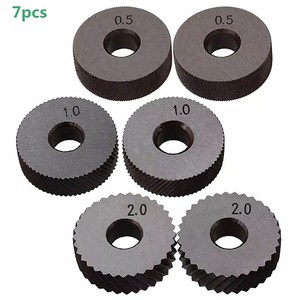 Image 3 - Dual Wheel Knurling Tool Kit 7pcs 0.5mm 1mm 2mm Wheel Linear Pitch Knurl Set Steel Lathe Cutter Wheel Knurling Tool Set