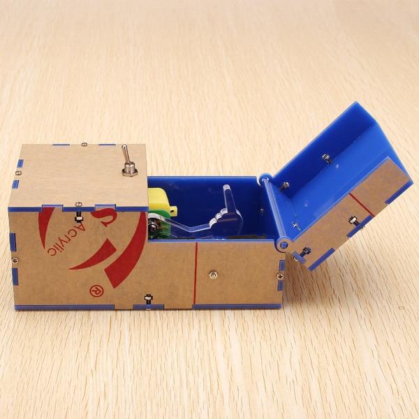Useless Box DIY Kit Useless Machine Birthday Gift Toy Geek Gadget Gags Joke Broad Game Tricky Toys Fun Office Home Desk Decor