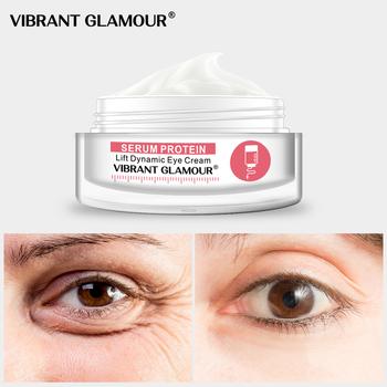 VIBRANT GLAMOUR Serum Protein Eye Cream anti-aging przeciwzmarszczkowy opuchlizna kolagen Lifting ujędrnienie skóry Remover ciemne koła tanie i dobre opinie Kobiet Krem Anty-obrzęki Nawilżający VG-YB005-2 Chiny GZZZ YGZWBZ 201863559+6 Ceramide 1 serum protein hyaluronic acid