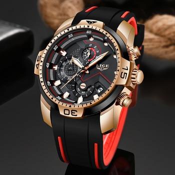 2020 LIGE New Mens Watches Top Luxury Brand Men Unique Sport Watch Men Quartz Date Clock Waterproof Wristwatch Relogio Masculino