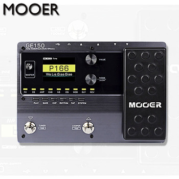 MOOER GE150 Digital Tube AMP Modelling Guitar Multi-Effects Pedal Processor 55 AMP Models 9 Effect Types Loop Recording (80S)
