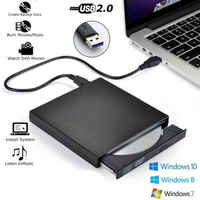 Externe DVD Optisches Laufwerk USB 2.0 Hohe Geschwindigkeit CD ROM Player CD-RW Brenner Schriftsteller Reader Recorder für Laptop PC HP