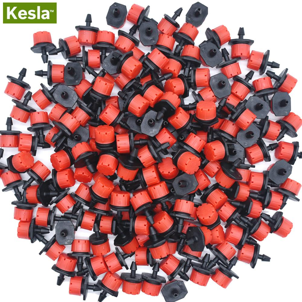 30-500PCS Adjustable 1/4 Irrigation Misting Dripper Sprinkler Emitter Micro Drip Garden Watering Tool Balcony Yard Greenhouse
