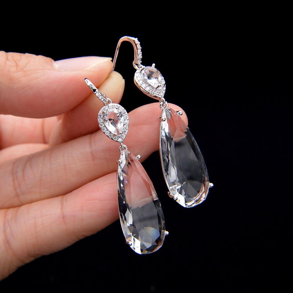 CINDY XIANG Colorful Cubic Zirconia Water-drop Earrings For Women Classic Desgin High Quality Copper Earrings Good Gift