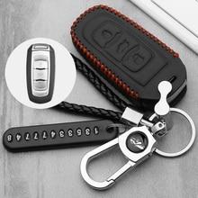 Genuine Leather Car remote key case for Geely Atlas Boyue NL3 EX7 Emgrand X7 EmgrarandX7 SUV GT GC9 borui Car remote key case