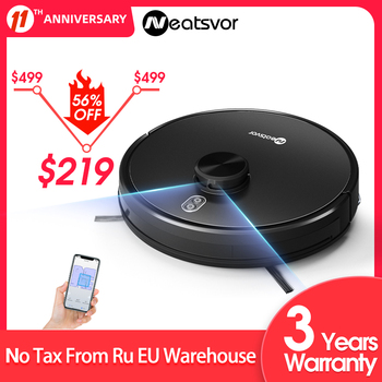 NEATSVOR X600 4000pa Laser Navigation Robot Vacuum Cleaner ,APP Virtual wall,Breakpoint Cleaning,Draw Cleaning Area,Mopping wash 1