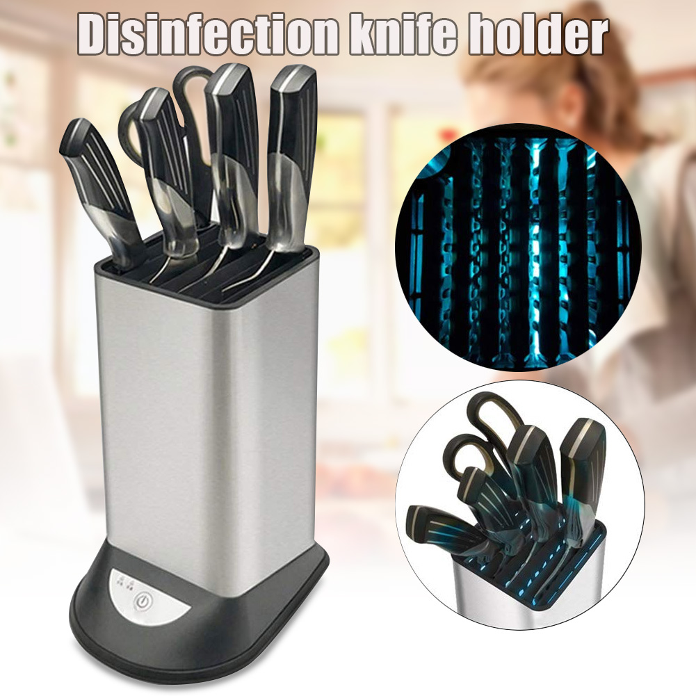 8 Slots Disinfection Cutter Holder Storage Universal Stainless Steel Cutter Rack QP2