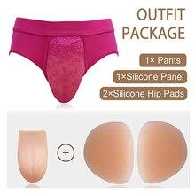 Crossdresser תחתוני מסתור גף איברי מין תחתונים הומו מזויף נרתיק תחתונים בעיצוב תחתונים מין הלבשה תחתונה חוטיני קוקסינל טרנסג נדר