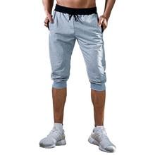 New Jogging Pants Men Sport Cropped trousers  Running Pants Pants Men Joggers Cotton Trackpants Slim Fit Bodybuilding Trouser