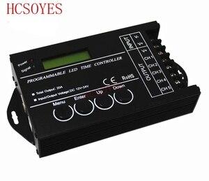 DC12 DC24V TC421 WiFi time programmable led controller dimmer rgb aquarium lighting timer input 5 channels for led strip