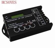 Temporizador de iluminación para acuario, programable por tiempo, WiFi, entrada de 5 CANALES, DC24V TC421 DC12, controlador regulador led rgb