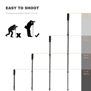 Image 5 - K&F Concept Compact Camera Monopod Aluminum Lightweight 67 inch For Canon Nikon Sony