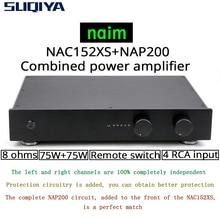 SUQIYA חדש המבוסס על NAIM NAC152 preamp & NAP200 בשילוב מגבר 75W + 75W 8 אוהם 4 דרך RCA קלט עם שלט רחוק גרסה