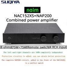 SUQIYA nouveau basé sur NAIM NAC152 préampli & NAP200 amplificateur combiné 75W + 75W 8 ohms 4 voies entrée RCA avec version télécommande