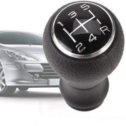 Car Shift - 5 Speed Gear Shift Knob, Car Gear Shift Knob for C1 C3 C4 Black For PEUGEOT 205 206 106 107 207 306 307 308 309 405